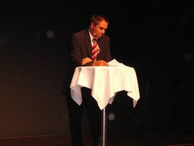 Thomas Busslinger (Präsident Ortsbürgerverband AG) führte durch das Abendprogramm