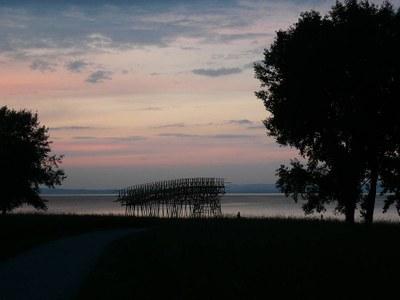 Abendstimmung beim Seeparksaal