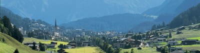 Blick auf Davos