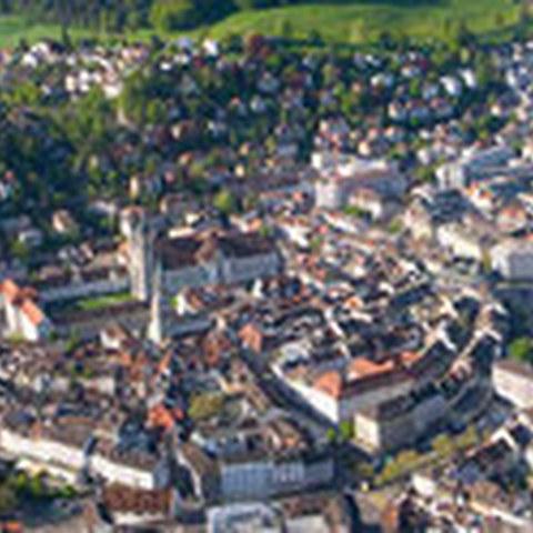 Stadt St. Gallen. Vergrösserte Ansicht